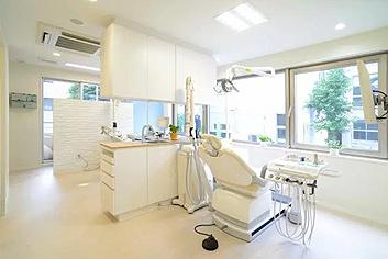 白を基調とした清潔な診療空間